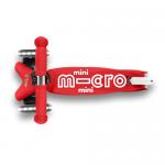 Scooter Mini Micro LED Rojo